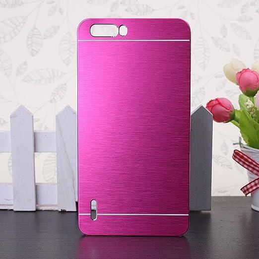55 opinioni per Huawei Honor 6 Plus Custodia, Wkae® lusso spazzolato copertura d'acciaio