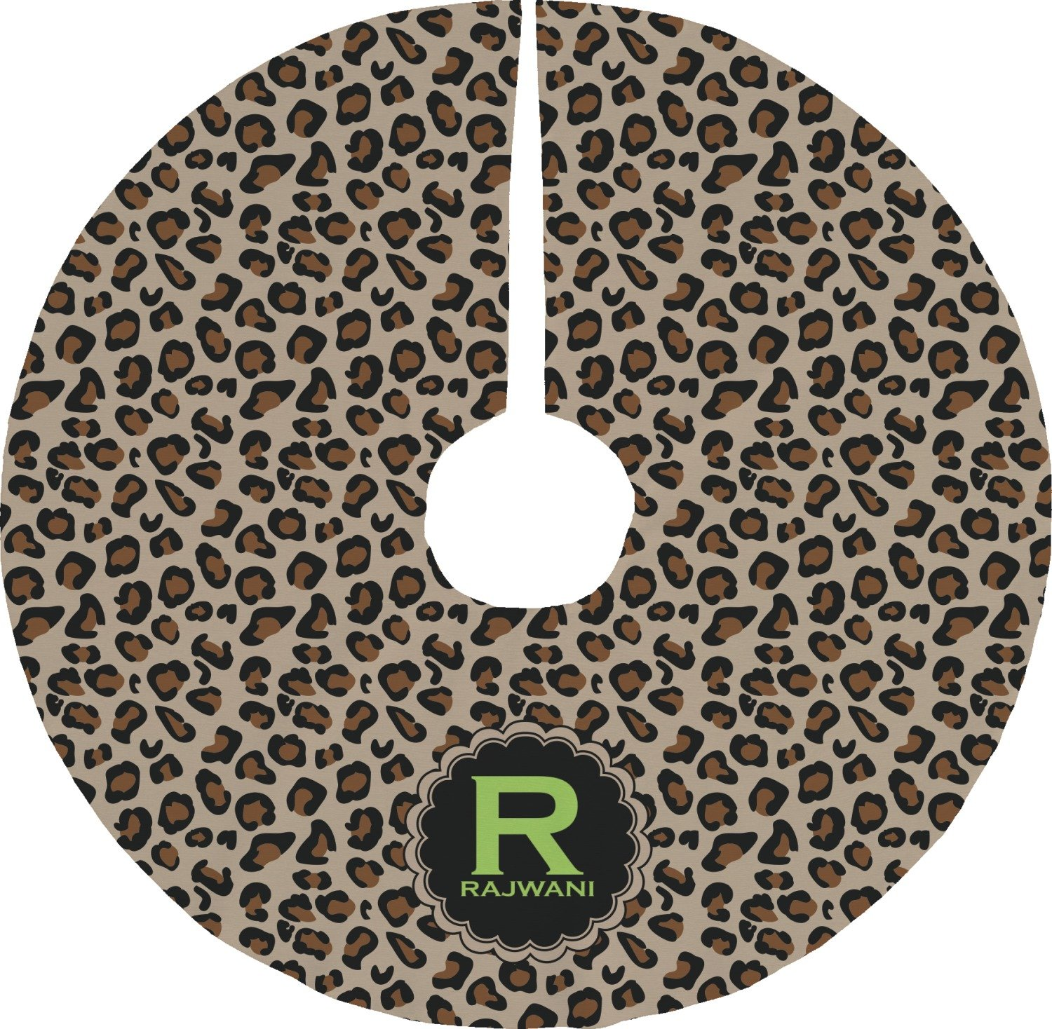 RNK Shops Granite Leopard Tree Skirt (Personalized) Mom Innovations