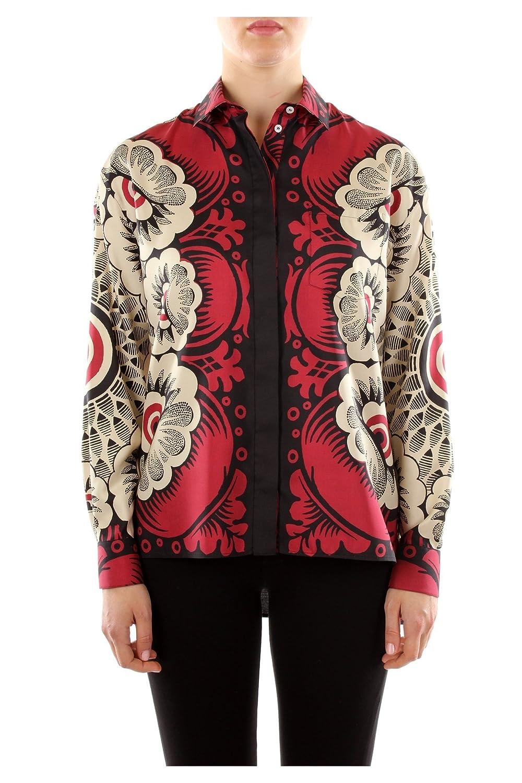 IB0AB01Q1TWEN0 Valentino Shirts Women Silk Red
