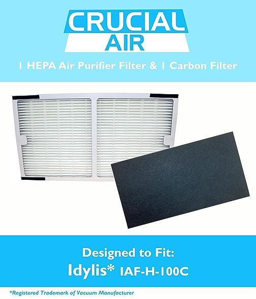 idylis hepa air purifier filter u0026 carbon filter fits idylis air purifiers iap10