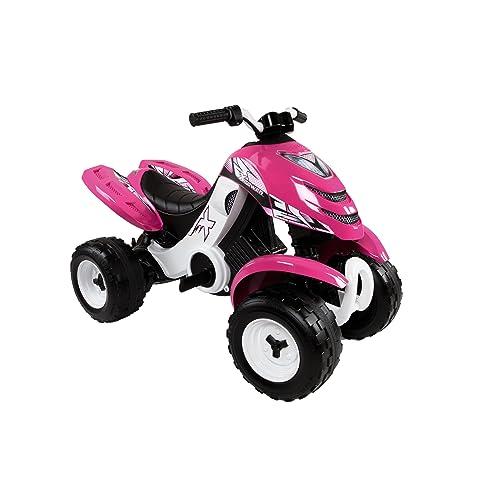 Smoby - 033049 - Quad Électronique X Power Carbone - Véhicule Electronique pour Enfant - 2 Roues Motrices - Autonomie Batterie 2 heures - 6V - Rose