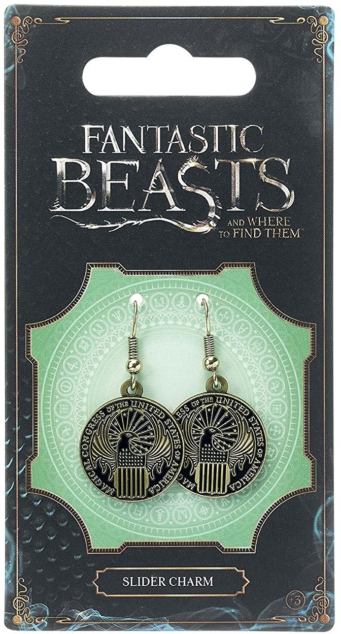 Fantastic Beasts Magical Congress Earrings (antique brass plated) Carat Shop Ohrringe Fantastic Beasts and Where to Find Them FE0003