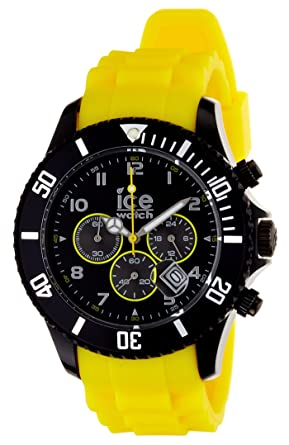 97de6bd74b1e0 Ice-Watch Chronograph Black and Yellow Big Silicone Watch CH.BY.BS10