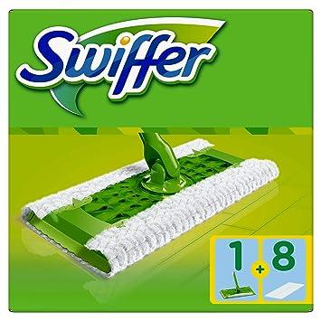 Swiffer Bodenwischer Starterset mit 1 Bodenwischer + 8 Trockenen Bodentüchern