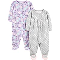 Simple Joys by Carter's Baby Girls' 2-Pack de Forro Polar para Dormir y Jugar