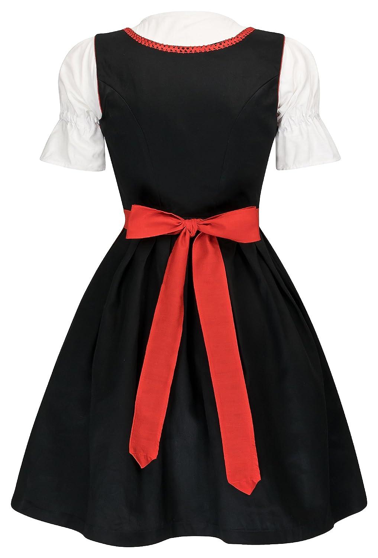schwarz rot Bluse trachten dirndl damen dirndl 3 tlg neu Schürze Gr TRD-112 42 rosa 34-46 in den Farbe schwarz blau Dirndl 3 tlg.Trachtenkleid Kleid schwarz pink