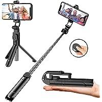 Aptoyu 2 in 1 Extendable Bluetooth Selfie Stick Tripod with Wireless Remote Control