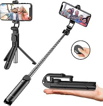 Aptoyu Selfie Stick with Tripod Stand and Remote Control