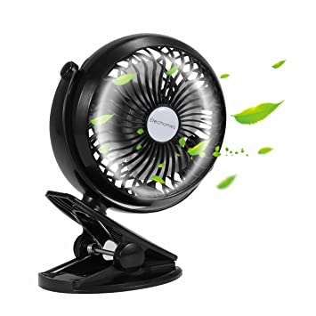 Elechomes EH101 Rechargeable Operated Clip on Mini Desk USB Fan for Home Office Baby Stroller Car  sc 1 st  Amazon.com : rechargeable tent fan - memphite.com