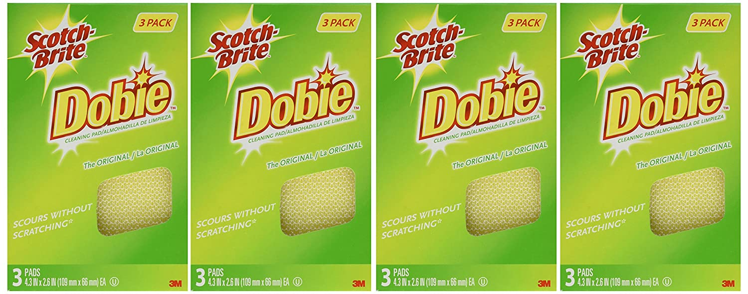 Amazon.com: Scotch-Brite Dobie All-Purpose Pads, No Model, 1 ...