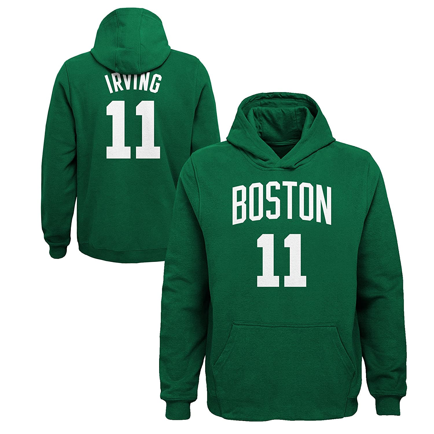 pretty nice 78b29 04063 Outerstuff NBA Kyrie Irving #11 Boston Celtics L/S Name Number Youth Green  Sweatshirt Officially Licensed
