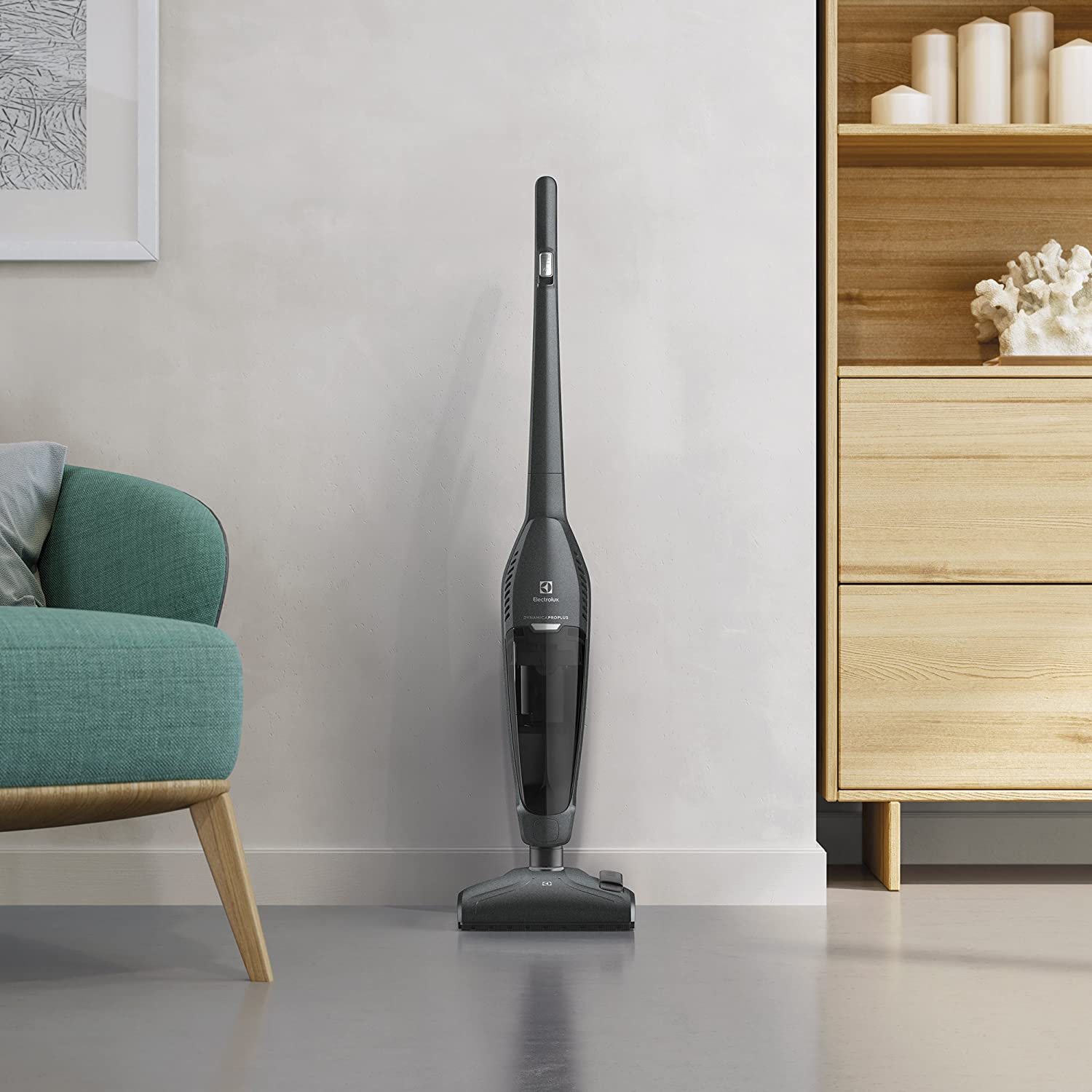 Electrolux Balai aspirateur sans sac, 550 W Light Grey Metallic Gris