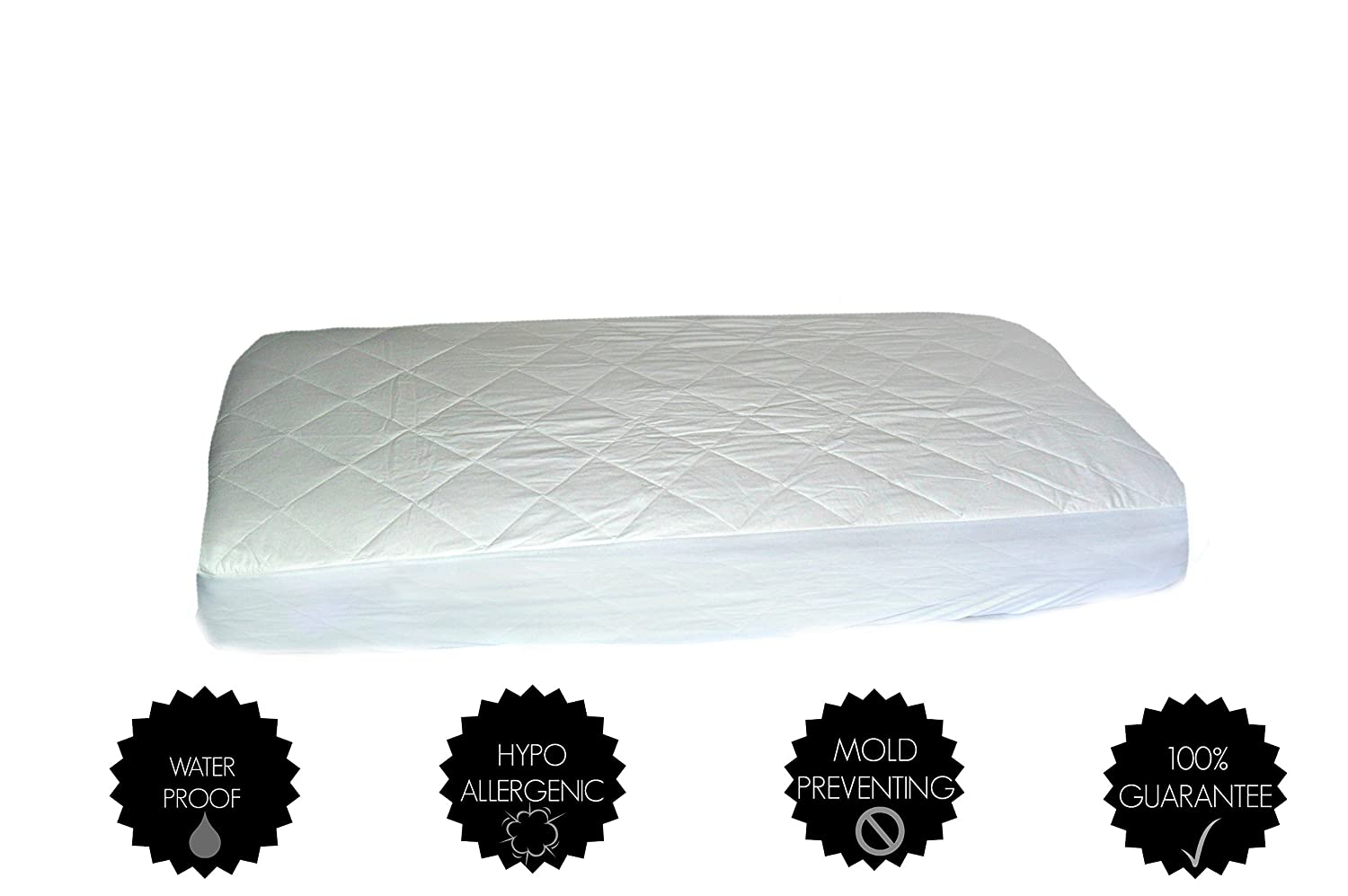 Baby Crib Mattress Protector Pad 100/% Waterproof Premium Hypoallergenic Cotton Fitted Cover Nocturnal Nirvana