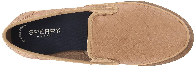 Sperry Top-Sider Women's Seaside Emboss Weave Sneaker B078SGHB42 8.5 M US Tan