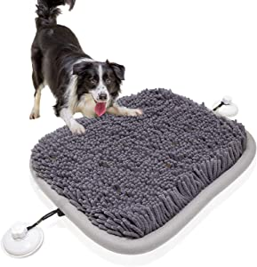 Britimes Dog Snuffle Mat, Pet Nosework Feeding Interactive Toys, Encourages Natural Foraging Skills, Dog Treat Dispenser Stress Relief Slow Eating Mat for Boredom