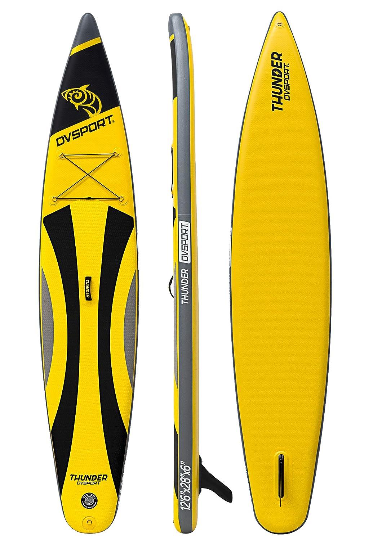 DVSPORT Paddle Board Thunder Negro/Amarillo: Amazon.es: Deportes y aire libre