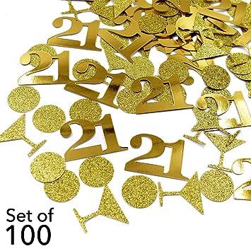 21 Birthday Table Confetti