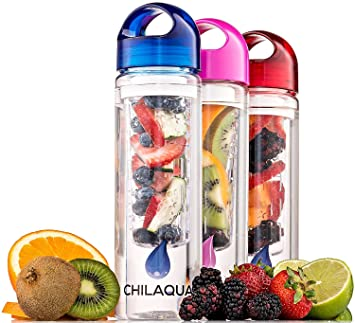 #1 Botella con Infusor de Esencia de Fruta + Botella Infusora Zumo de Frutas y