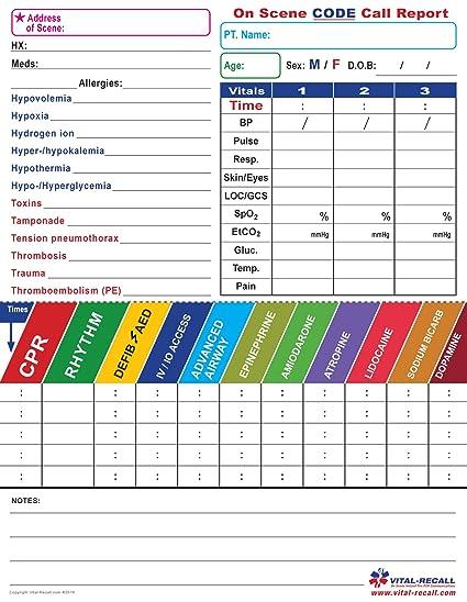 EMT On Scene Code Form 10 Forms Per Package