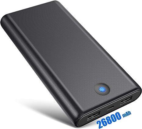 Ekrist Batería Externa Móvil 26800mAh Gran Capacidad Power Bank ...