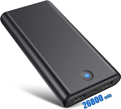 Ekrist Batería Externa Móvil 26800mAh Gran Capacidad Power ...