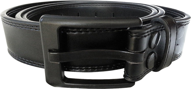 Pant Size Range Black 30-34 Ferrer Mens Leather Metal-free Belt