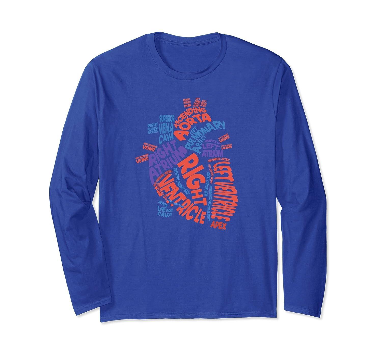 Anatomical Heart Long Sleeve Shirt Cardiac Nurse Long Sleeve-TH