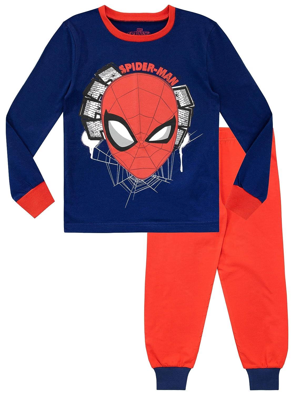 Marvel Pigiama a Maniche Lunghe per Ragazzi Spiderman Vestibilitta Stretta