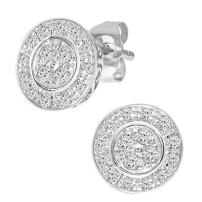 Naava 0.07 ct Diamond Earrings in 9 ct White Gold 6pR5i2hFE
