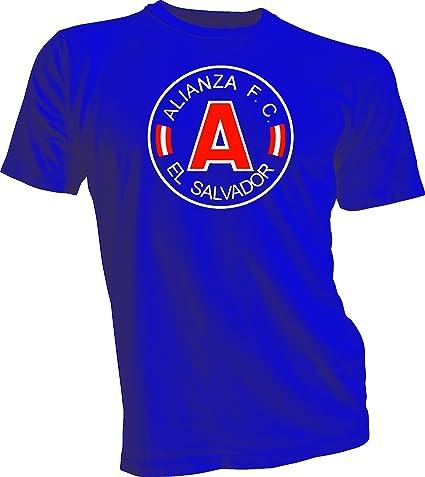 Alianza FC El Salvador Futbol Soccer Mens T-shirt Blue Large