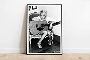 """Guitarist Star Decor Wall Compatible With Carrie Underwood Singer Poster Dorm Wall Decor Unique Design Unframed Wall Art Size - 8,5'x11' 11'x17' 18'x24' 24'x32' (S - 11""""x17"""" (28x43cm))"""