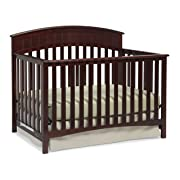Graco Charleston Convertible Crib, Cherry, Easily Converts to Toddler Bed Day Bed or Full Bed, 3 Position Adjustable Height Mattress (Mattress Not Included)