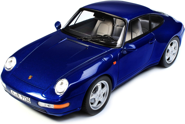Norev Porsche 911 993 Carrera Coupe Iris Blau Metallic 1993-1998 1//18 Modell Auto mit individiuellem Wunschkennzeichen