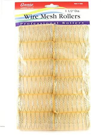 "Amazon.com : Annie 166-166/16"" XL Wire Mesh Hair Rollers - 16616 Pcs. : Beauty"