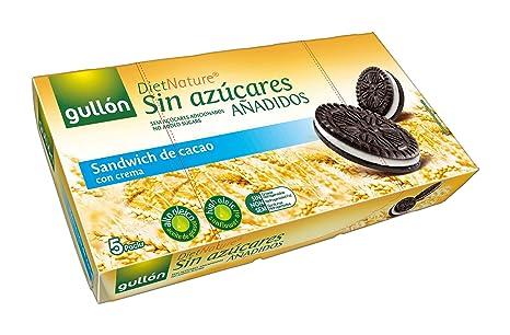 Gullón Sandwich Cacao Diet Nature Galleta Desayuno y Merienda sin Azúcares Añadidos - Paquete de 5