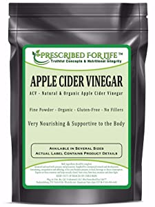 Prescribed for Life Apple Cider Vinegar - Organic Spray Dried ACV Powder - 5% Acetic Acid (Malus pumila - Mill.), 12 oz (340 g)