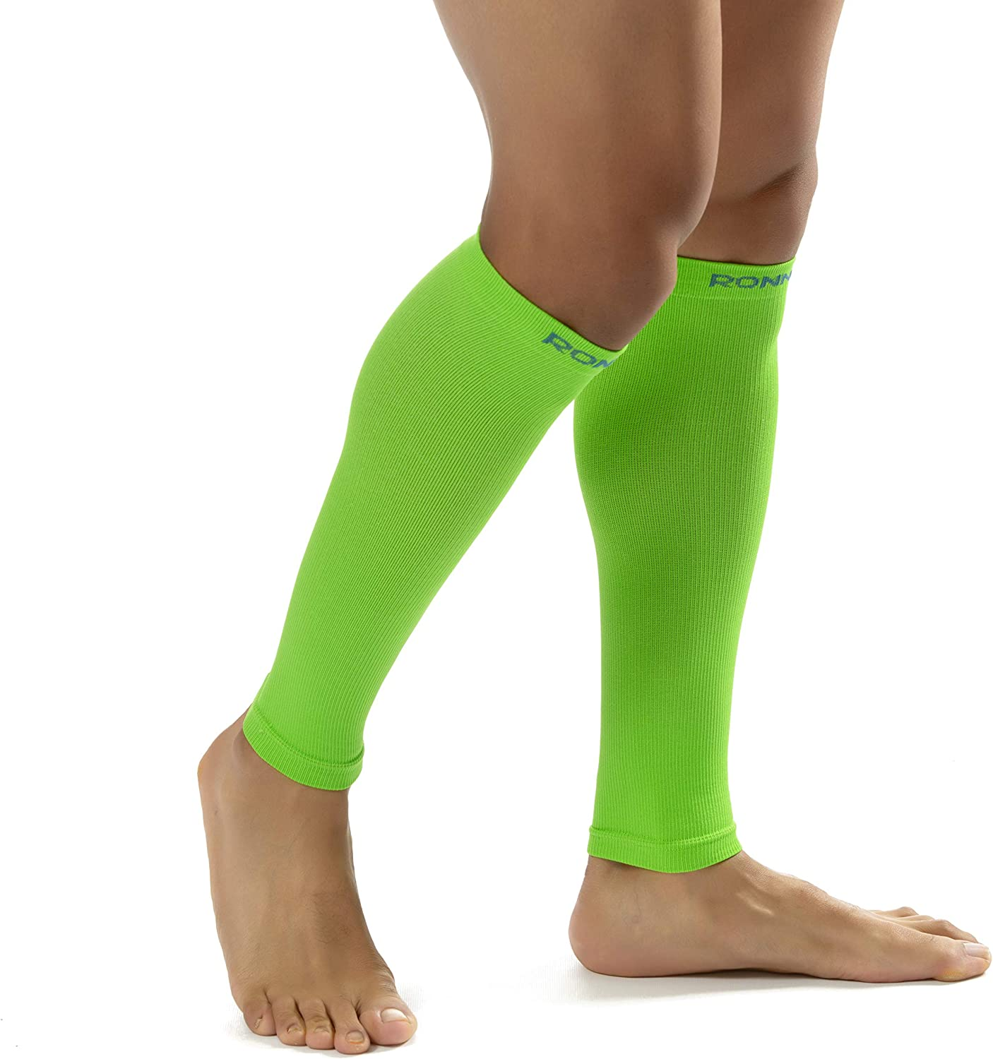 Ronnox Womens 1-Pairs Bright Colored Calf Compression Tube Sleeves 16-20 mmHg // 12-14 mmHg Great for Athletic /& Medical Use