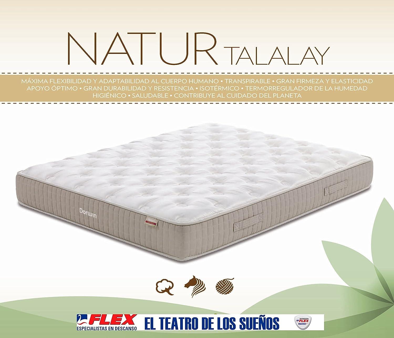Dorwin 2454140031 - colchón de Latex Ribeteado dorwn Natur talalay gem 100x182 cm: Amazon.es: Hogar