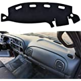 SPEEDWOW Dashboard Dash Board Cover Mat Carpet Compatible with 1998-2001 Dodge Ram