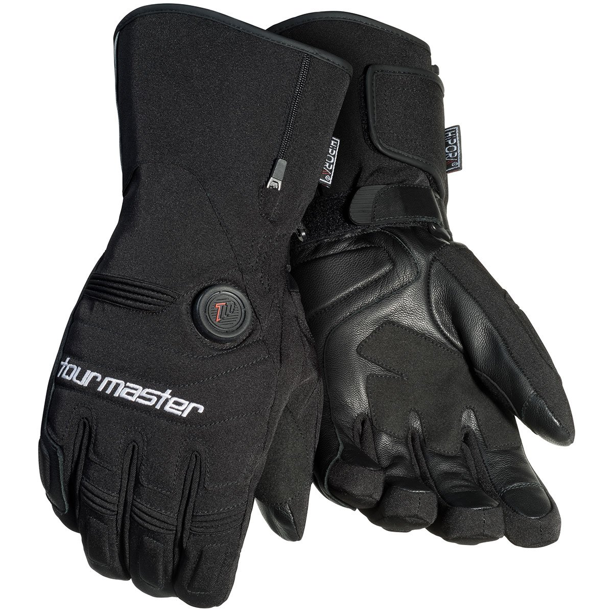 Tourmaster Women's Synergy 7.4V Battery Heated Textile Gloves (X-SMALL) (BLACK)