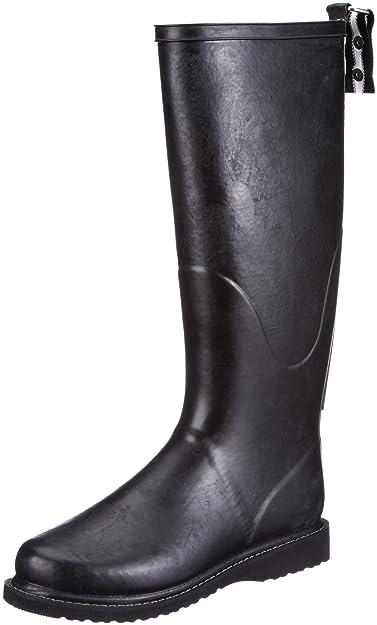 Ilse Jacobsen Hoher RUB31, Bottes de pluie femme - Noir-TR-E1-403, 37 EU