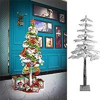 Maverickman 6-Foot Flocked Maple Pre-Lit Tree with 140 LED Lights