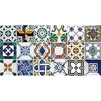Laroom Alfombra Vinílica de Cocina Diseño Ceramic Patchwork
