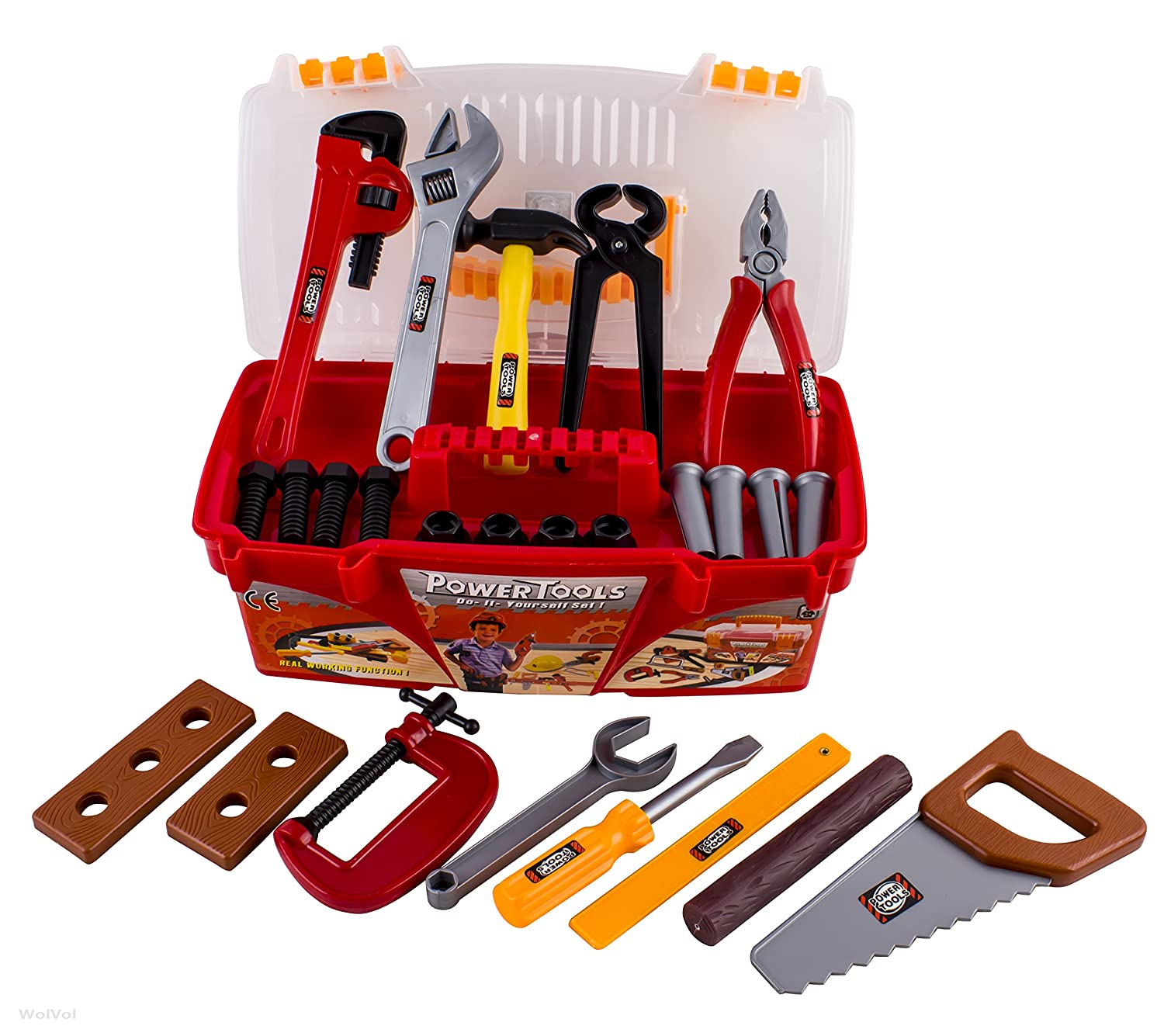 Amazon WolVol 26 piece Tool Box Set with Removable Tool Tray