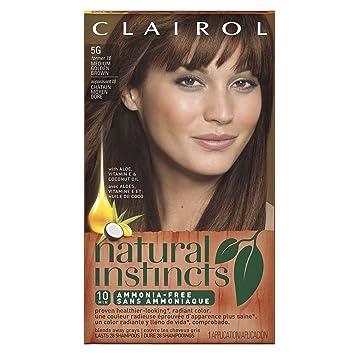 clairol natural instincts 5g 18 pecan medium golden brown semi permanent hair - Golden Brown Hair Color Pictures