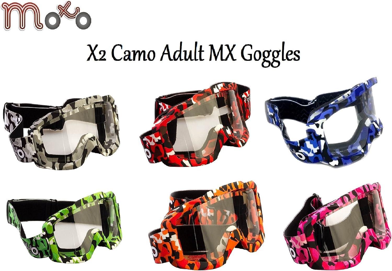 MOTO X2 CAMO PINK MOTOCROSS ATV QUAD BIKE OFF ROAD GOGGLES