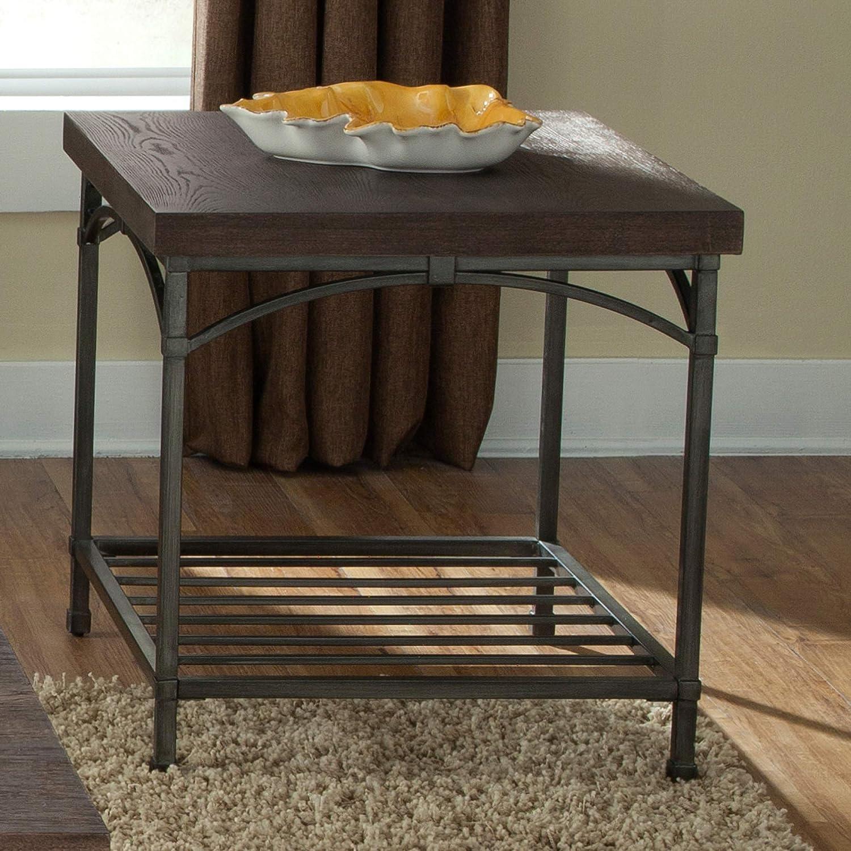Liberty Furniture Industries Franklin End Table, W23 x D27 x H24, Medium Brown