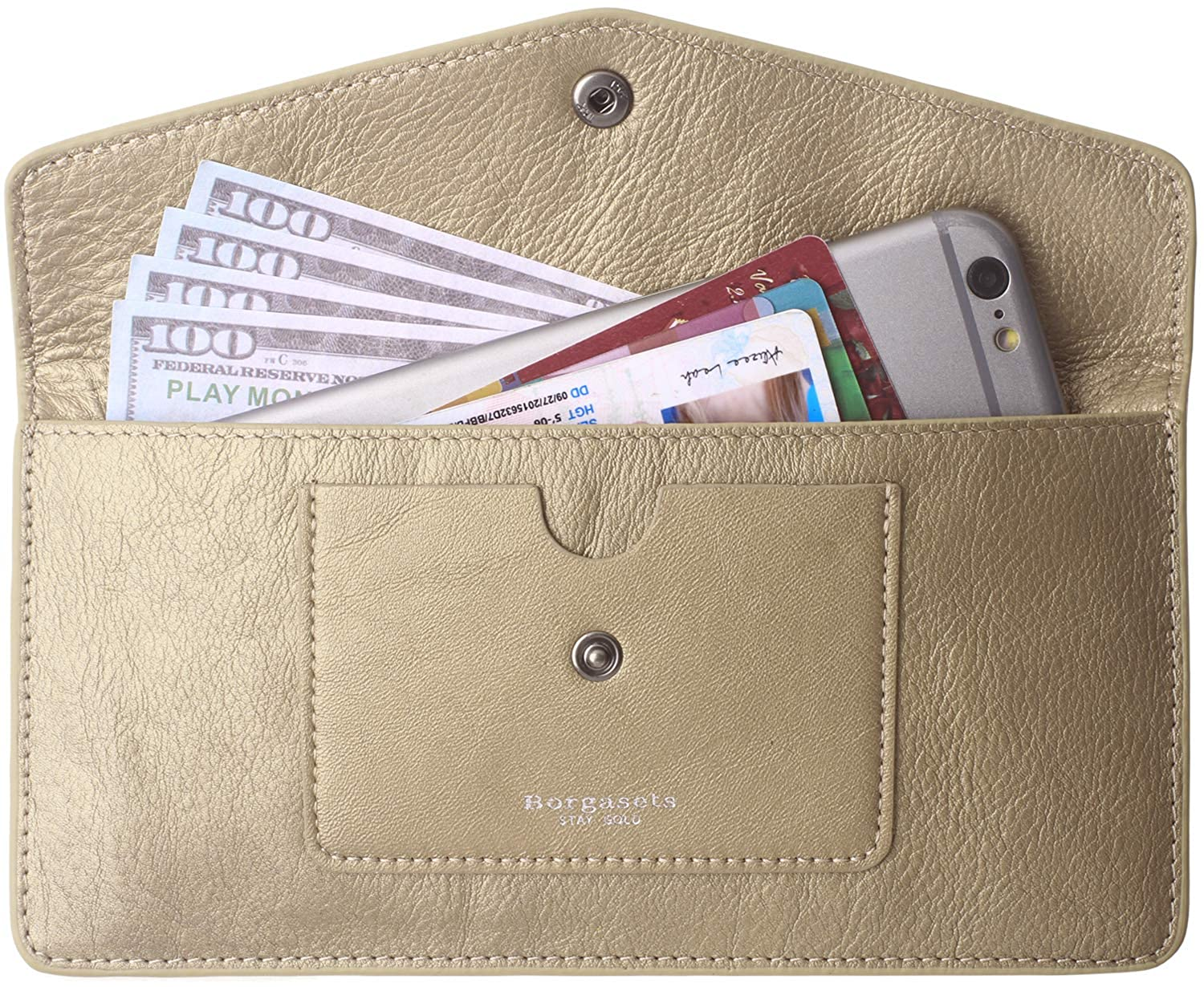 62a5c3ca80b Women's Wallets Leather RFID Credit Card Holder Thin Envelope Purse Bifold  Ladies Cluth for Women