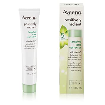 617d4d287eb Amazon.com: Aveeno Positively Radiant Targeted Tone Corrector, 1.1 Fl. Oz:  Beauty