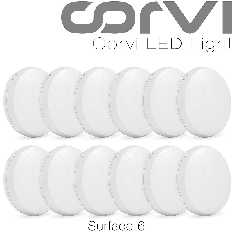 Corvi Surface 6 15-Watt LED Panel Light (Pack Of 10, White, Round)